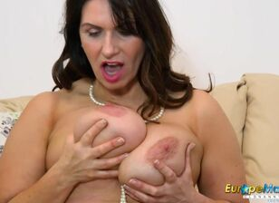 Busty mom solo