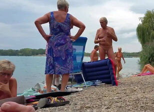 Mature vintage nudist