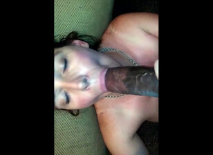 Nude wife playing